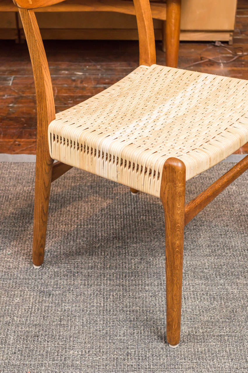 This four wishbone chairs by hans wegner is no longer available - Hans J Wegner Dining Chairs At 1stdibs