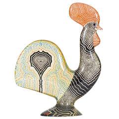 Huge Lucite Rooster designed by Abraham Palatnik