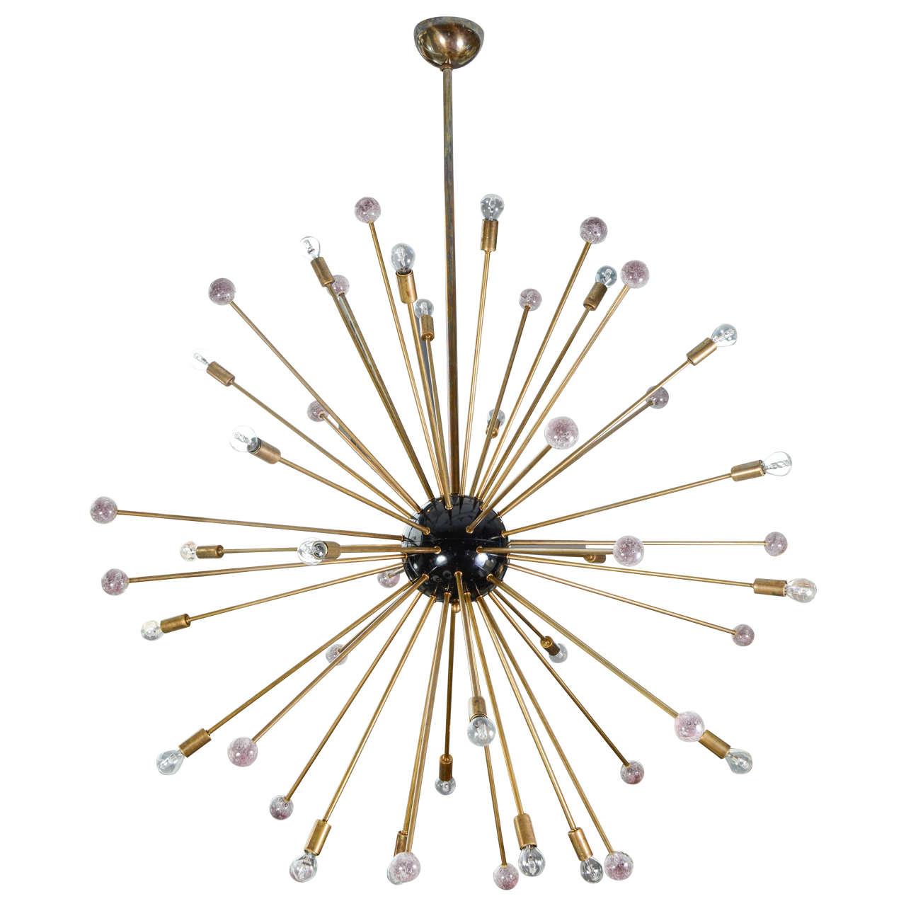 Huge sputnik chandelier with purple murano glass for Sputnik chandelier