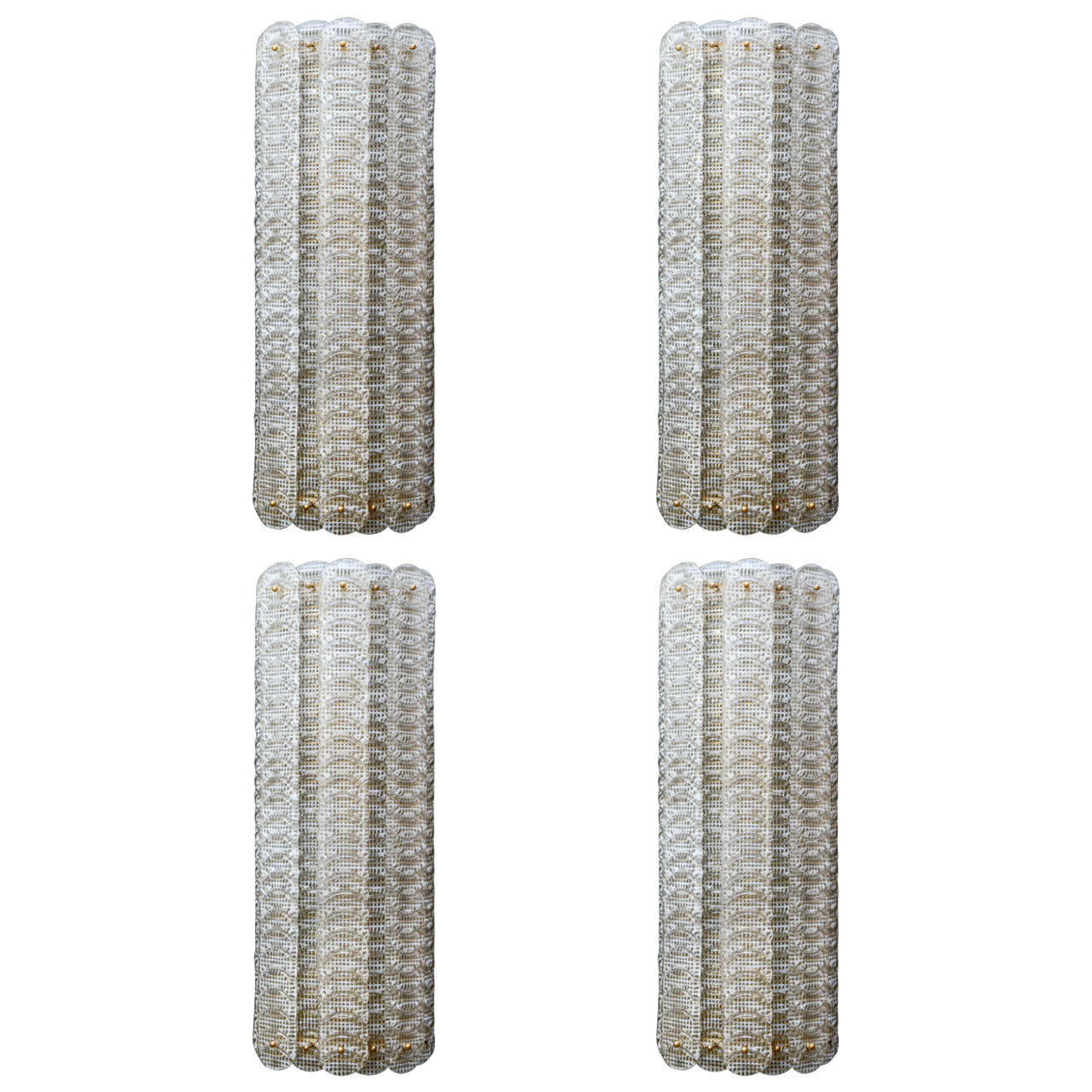 Tall Glass Wall Sconces : Set of Tall Murano Glass Wall Sconces at 1stdibs