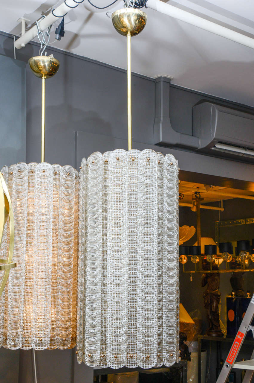 Tall Pair Of Murano Glass Lanterns For Sale At 1stdibs