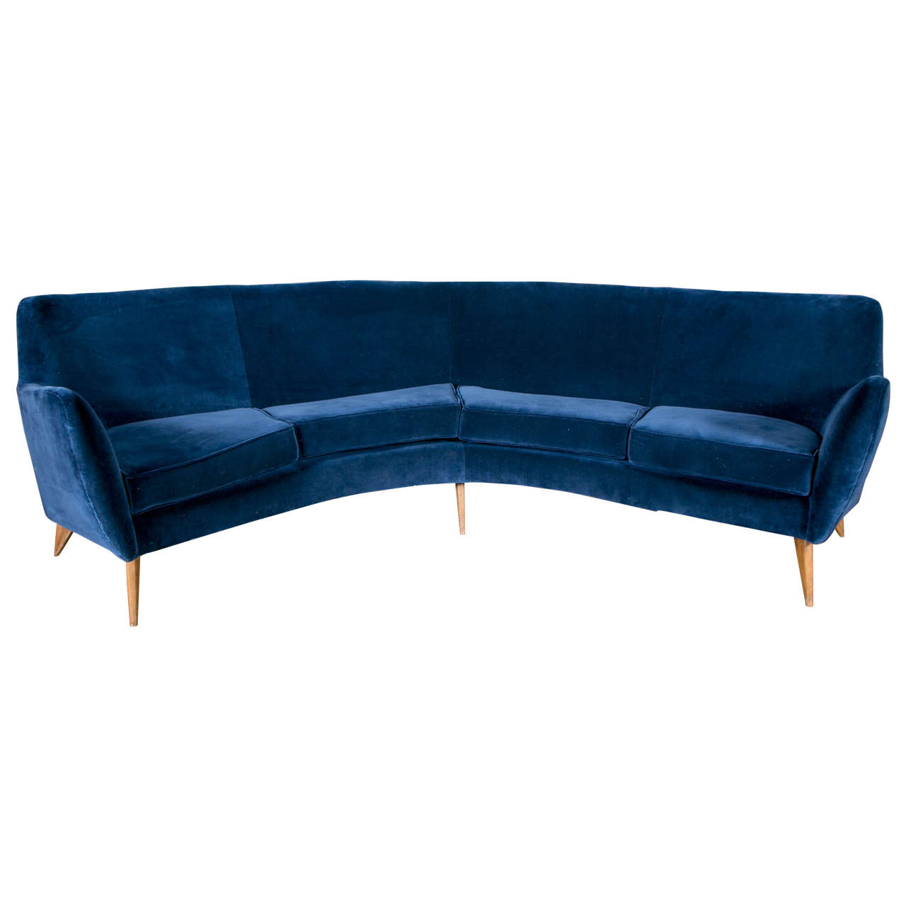 Vintage curved sofa for sale