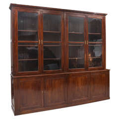 Impressive Classical Mahogany French Bibliotheque Bookcase Cabinet