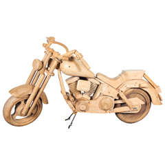 Wooden Motorcycle Replica