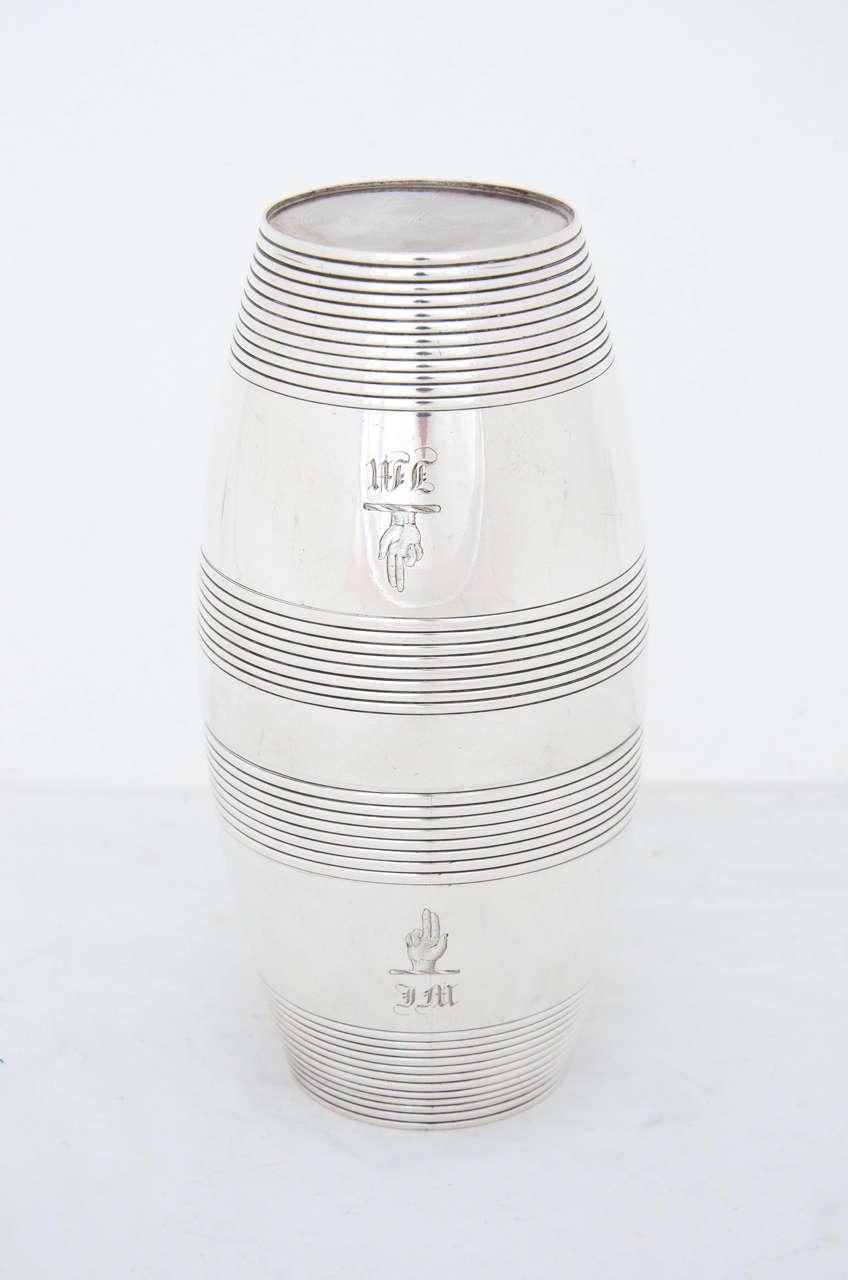 Antique Silver William IV Barrel Beakers 2