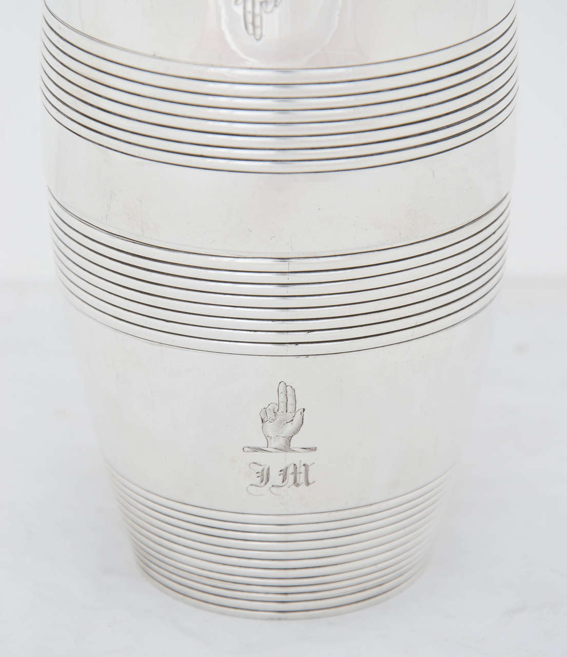 English Antique Silver William IV Barrel Beakers For Sale