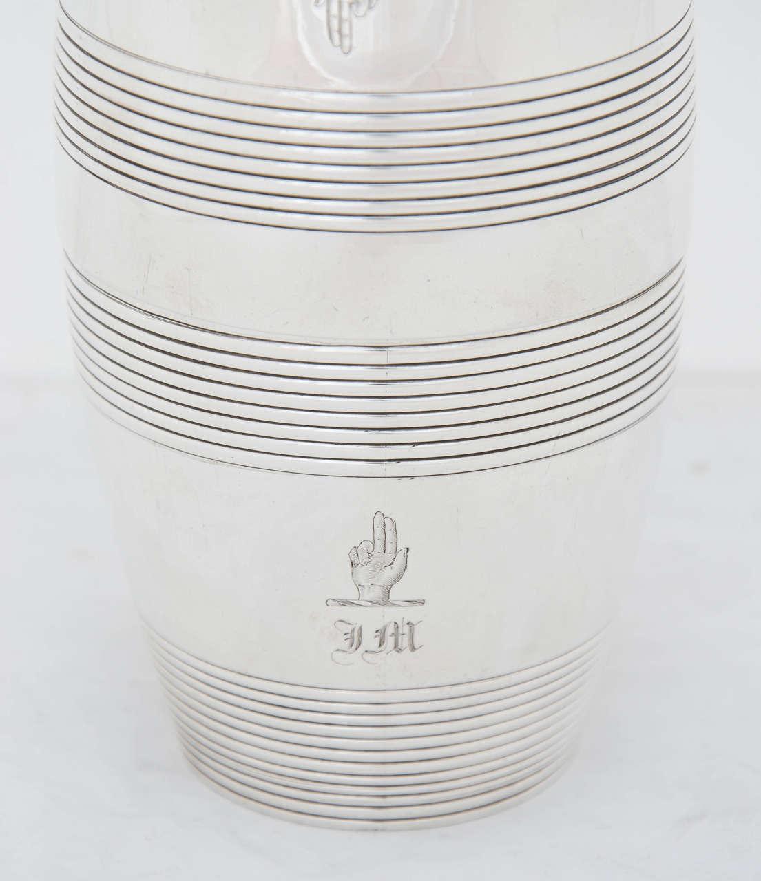 Antique Silver William IV Barrel Beakers 3