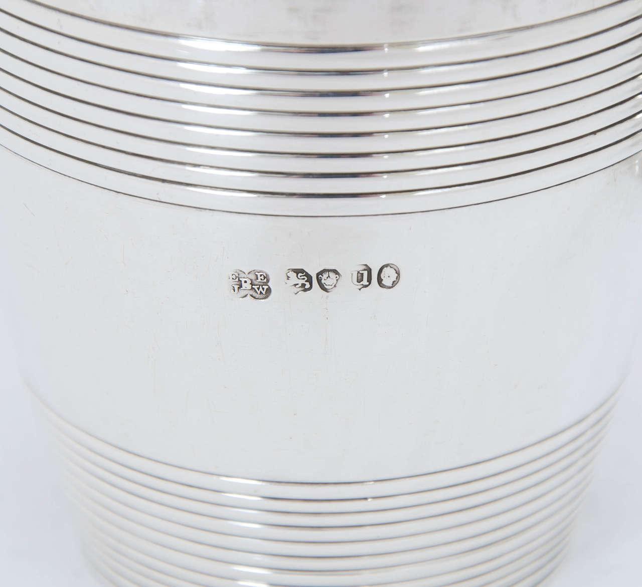 Antique Silver William IV Barrel Beakers For Sale 5