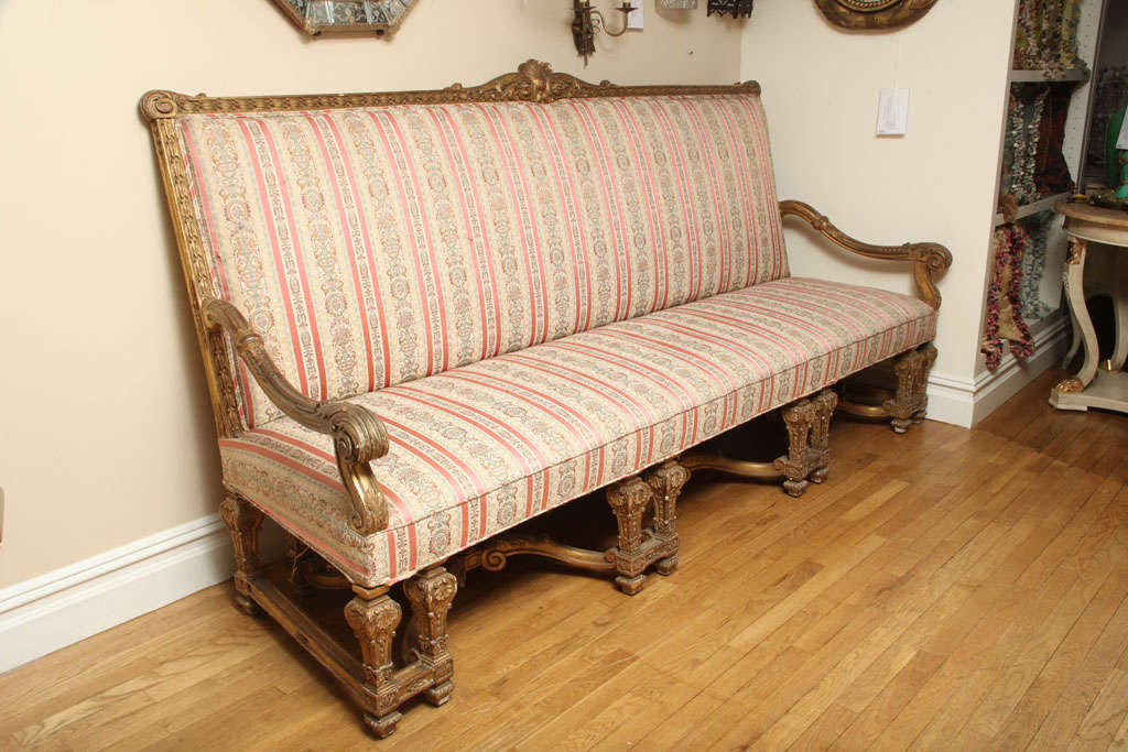 A french louis xiv style sofa with gilt wood frame at 1stdibs - Louis xiv sofa ...