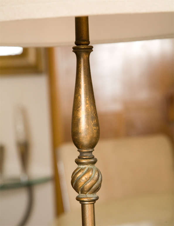 Gold Leaf Wooden Floor Lamp 3