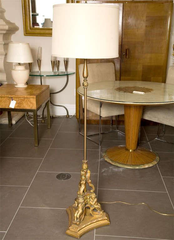 Gold Leaf Wooden Floor Lamp 6