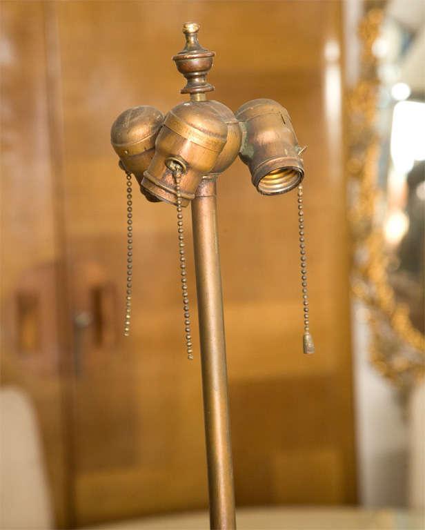 Gold Leaf Wooden Floor Lamp 7