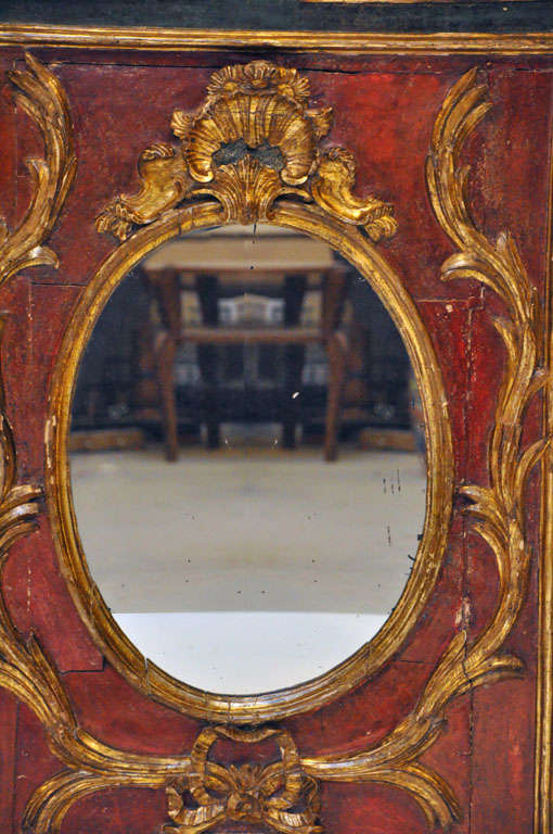 17th century italian painted mirror at 1stdibs for 17th century mirrors