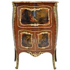 Rococo Vernis Martin Bombé Cabinet, Paris, 1880
