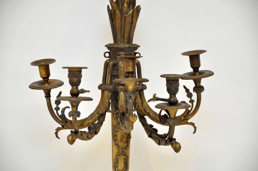 Shop Good Earth Lighting Metropolitan 3 Light Bronze: Pair Of French Louis XVI Style Bronze Sconces At 1stdibs