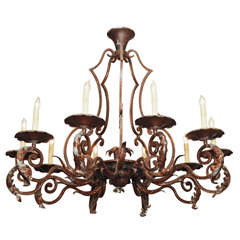 Antique wrought iron chandelier for sale at 1stdibs aloadofball Images