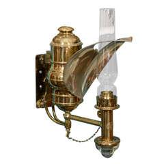 Antique Railroad Car Gas Lamp Sconce by Adam & Westlake co.