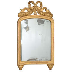 Antique Louis XVI  Mirror in Hand Carved Frame