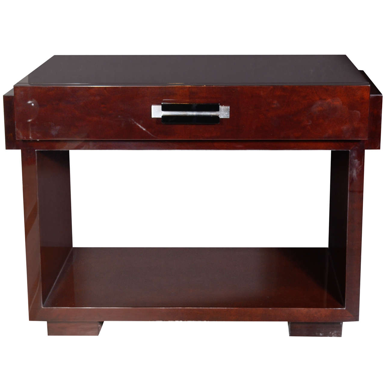 Art deco machine age console writing desk by donald deskey for Art deco writing