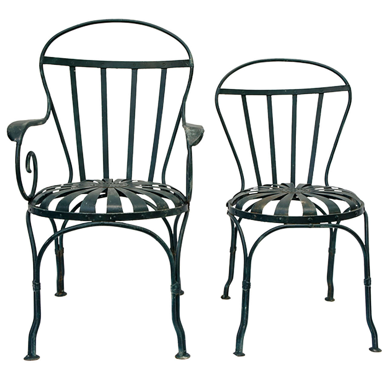 4 iron garden chairs at 1stdibs for Iron furniture