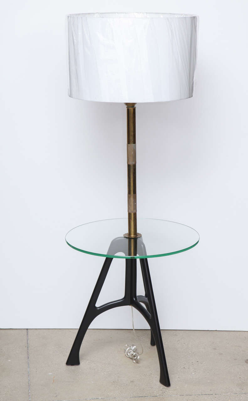 this 1950 39 s tripod floor lamp with glass tray is no longer available. Black Bedroom Furniture Sets. Home Design Ideas
