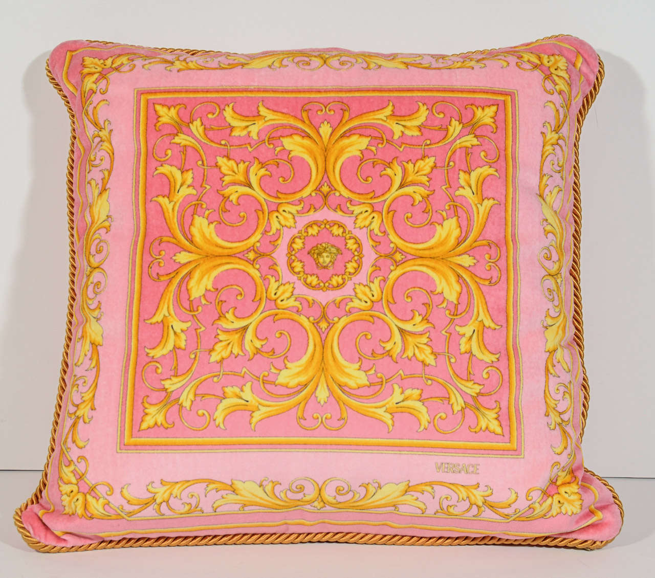 Set of 4 Vintage Versace Throw Pillows with Scarf Print Designs at 1stdibs