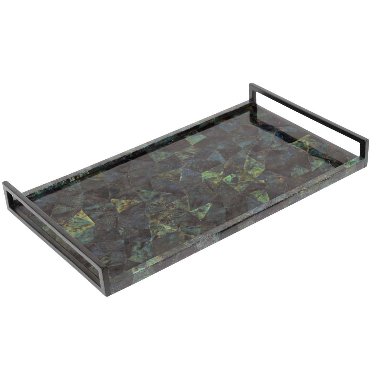 R Amp Y Augousti Lacquered Exotic Penshell Large Tray At 1stdibs