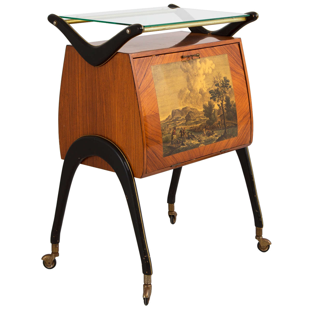 Attributed to Cesare Lacca Dry Bar Trolley, circa 1955