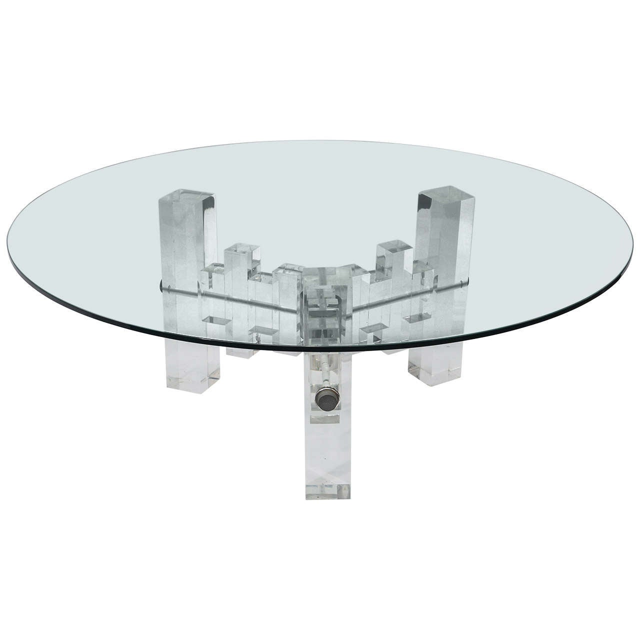 Stunning Midcentury Architectural Design, Lucite Coffee Table