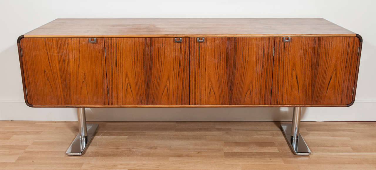 Mid-Century Modern Rosewood Credenza by Leif Jacobsen