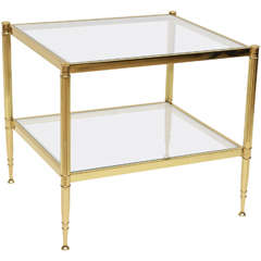 Maison Jansen Style Side Glass Table