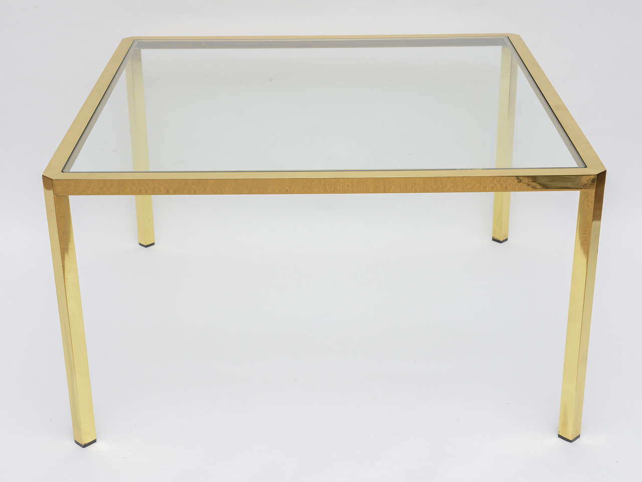 Mid-Century Modern Brass and glass coffee table from Italy.