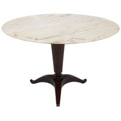 Italian Modern Onyx and Walnut Center or Dining Table by Paolo Buffa