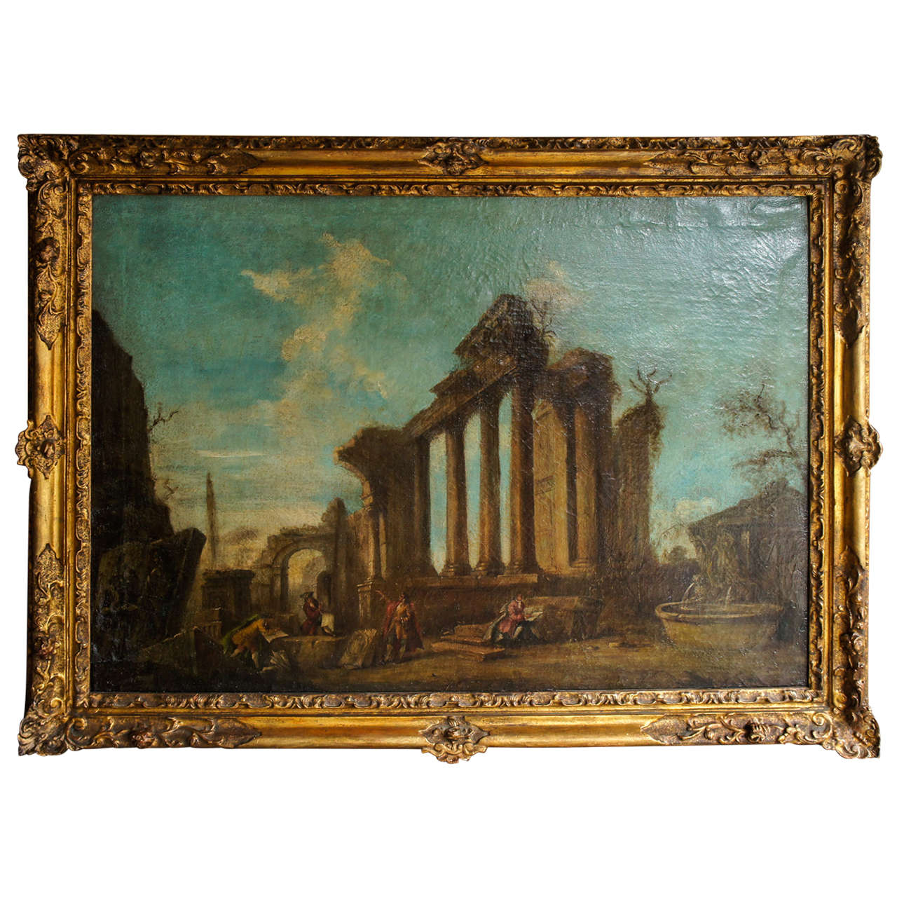 19th Century Italian Oil Painting in the Manner of Antonio Panini