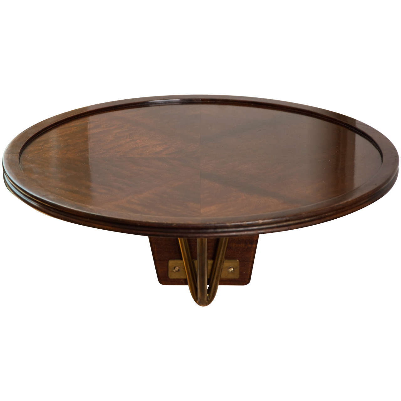 s italian mahogany circular wallmounted console table for  - s italian mahogany circular wallmounted console table
