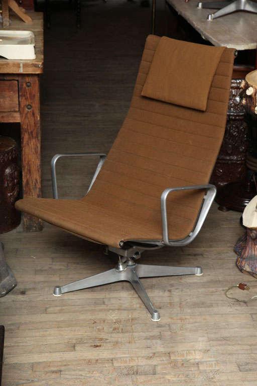 Pair of modern aluminum chairs.