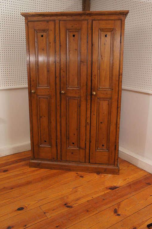 Three Door English Golf Locker At 1stdibs
