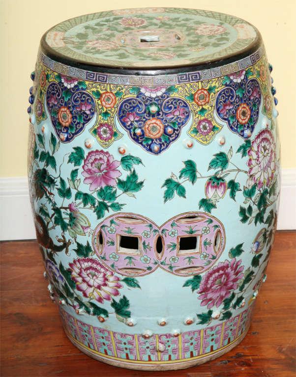 Antique Chinese Enamelled Porcelain Garden Seat C 1850 At
