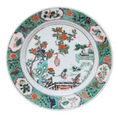 Antique Kangxi Famille Verte Plate, Chinese C.1690