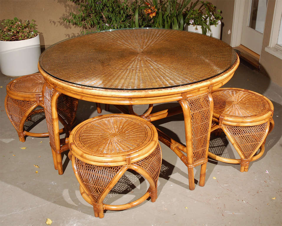 Vintage Rattan Dining Table Chairs at 1stdibs : DSC0153 from www.1stdibs.com size 957 x 768 jpeg 138kB