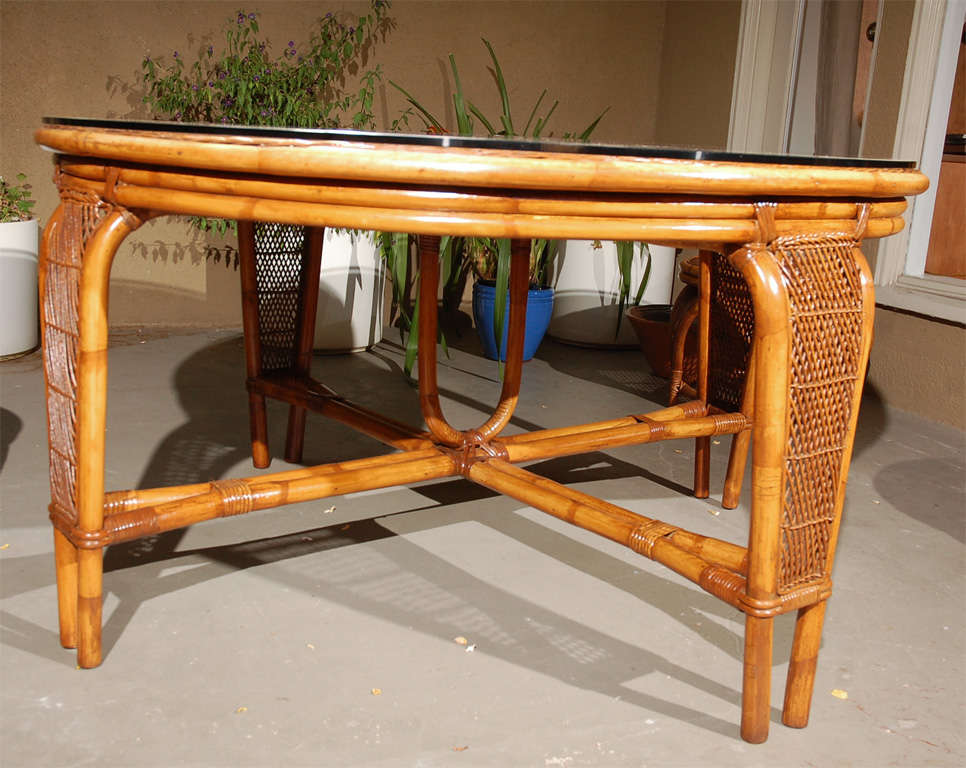 Vintage Rattan Dining Table Chairs at 1stdibs : DSC0159 from www.1stdibs.com size 966 x 768 jpeg 96kB