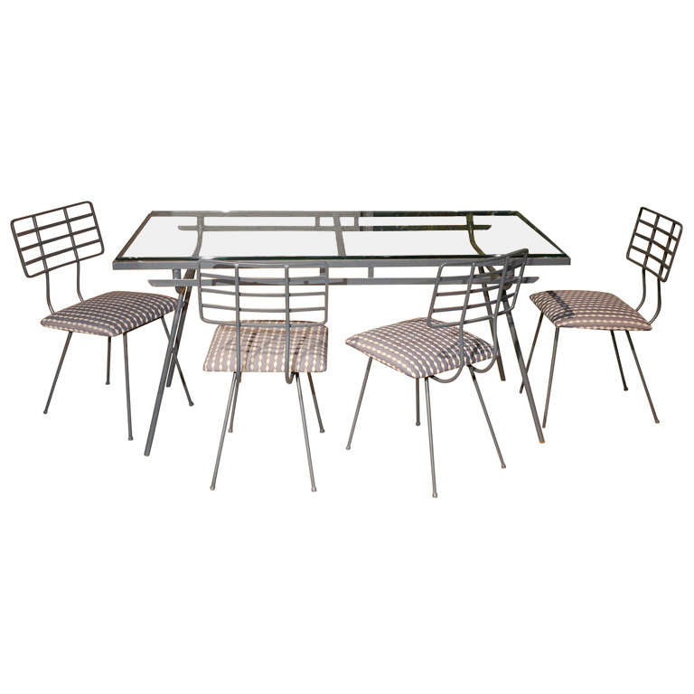 X dsc for Metal patio table and 4 chairs