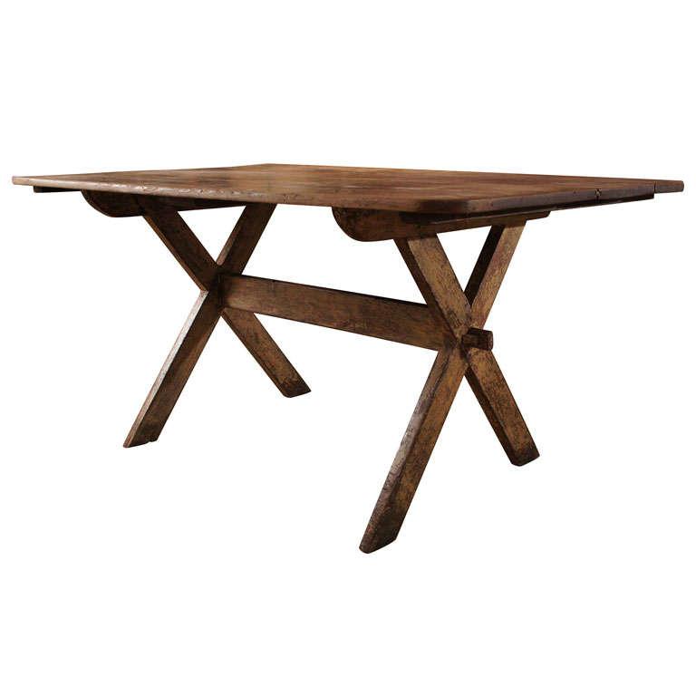 Sawbuck Table at 1stdibs : x from 1stdibs.com size 768 x 768 jpeg 28kB