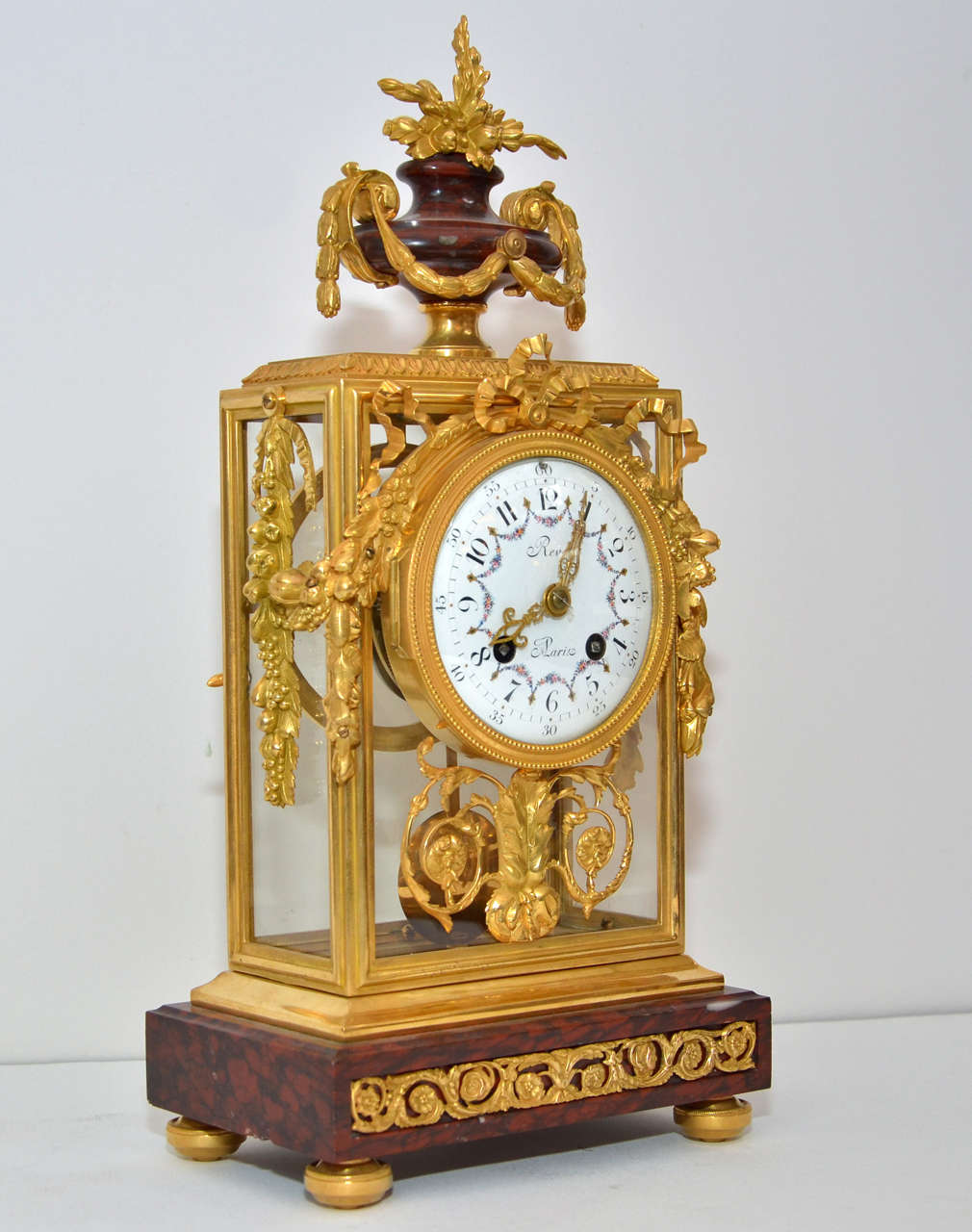 Unusual crystal and marble mantel clock for sale at 1stdibs Unusual clocks for sale