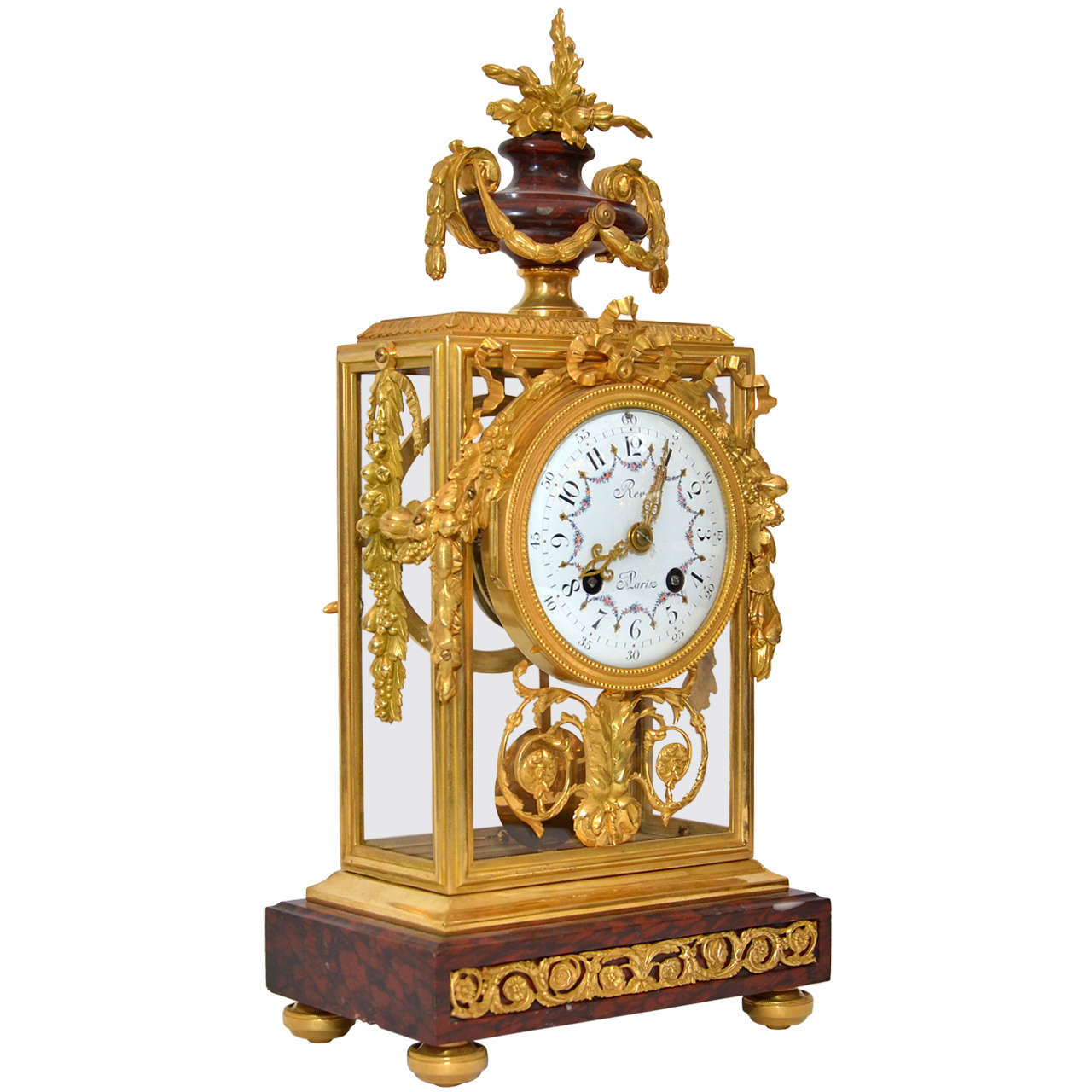 Unusual crystal and marble mantel clock for sale at 1stdibs for Quirky items for sale