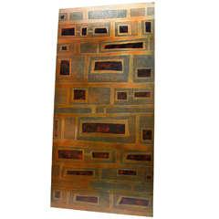 French Brass Panel, Circa 1950
