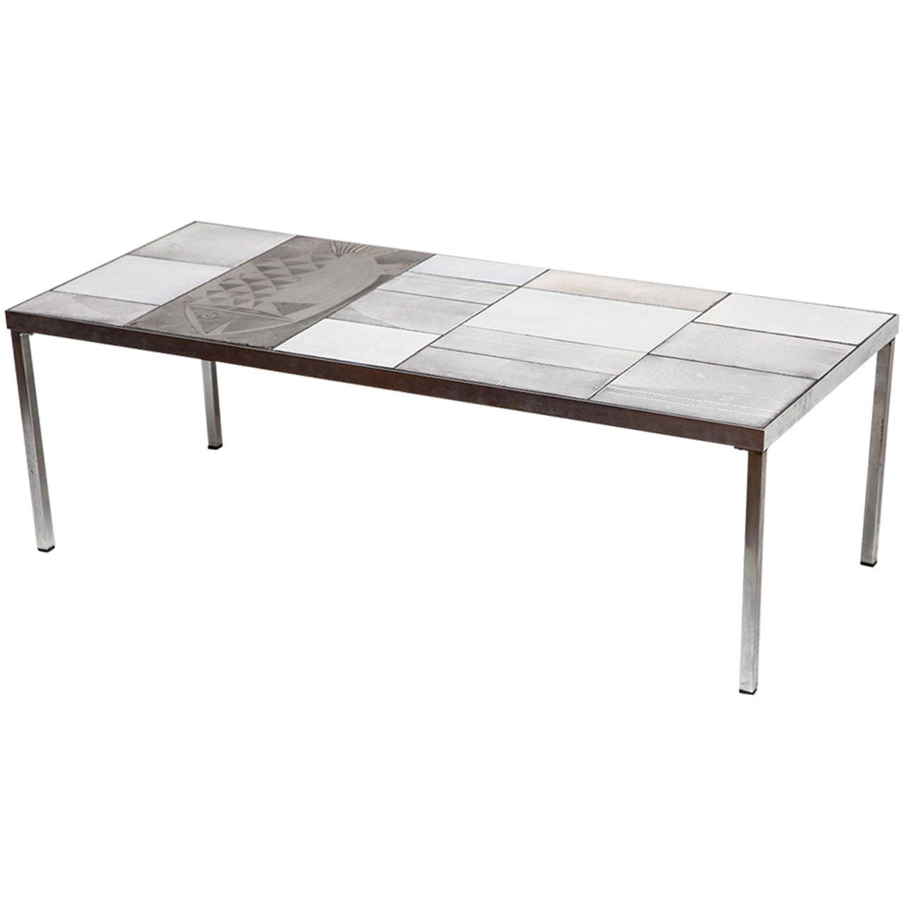 Fine And Rare Coffee Table By Roger Capron At 1stdibs