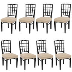 Set of Eight Dining Chairs by Dominique