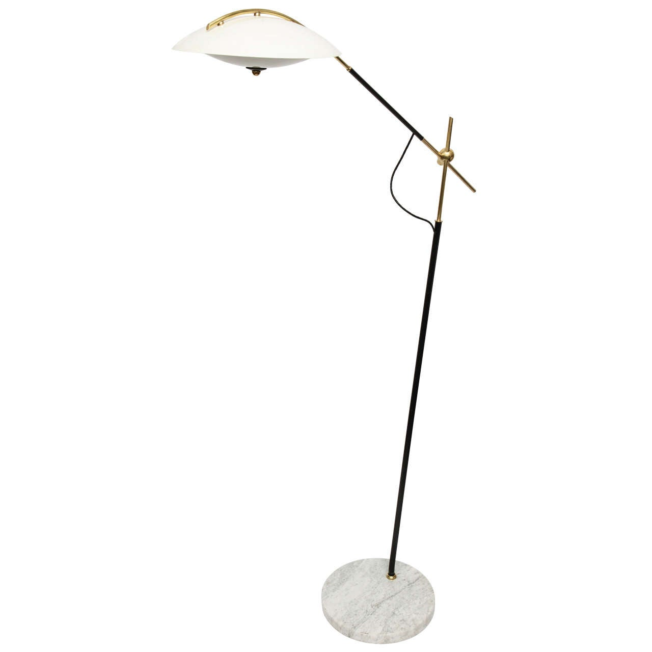 A 1950's Italian Articulated Floor Lamp Attributed to Stilnovo at ...