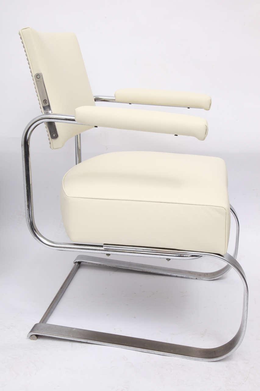 Gilbert Rohde lounge chair Art Deco Machine Age, 1930s.